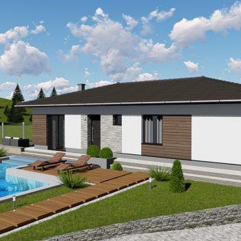 projekt domu Zvolen Klokocov