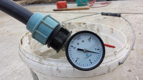 tlak vody je vporiadku