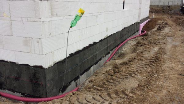 drenáž stavby