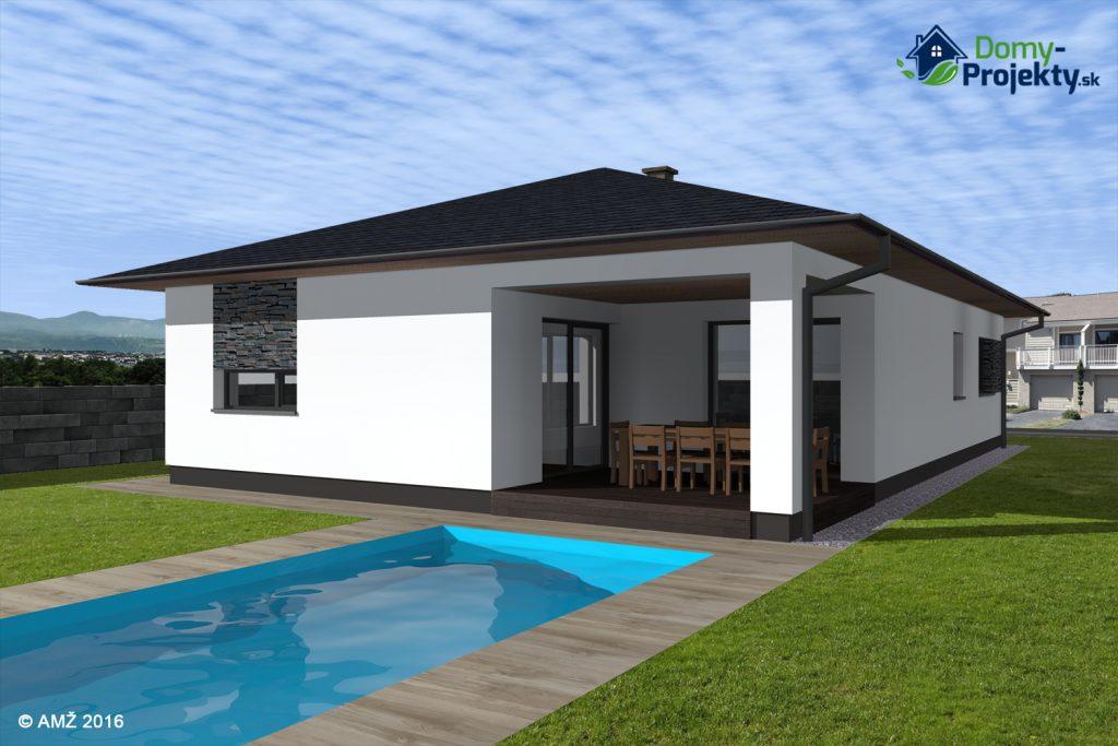 moderný rodinný dom s bazenom
