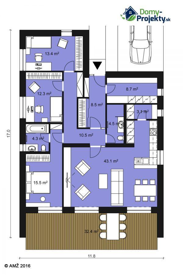 moderný dizajn bungalov